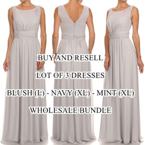 """OSoSpecialO"" Lot 3 Formal Dresses $400 Chiffon"